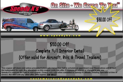 $50.00 Off Complete Full Interior Detail