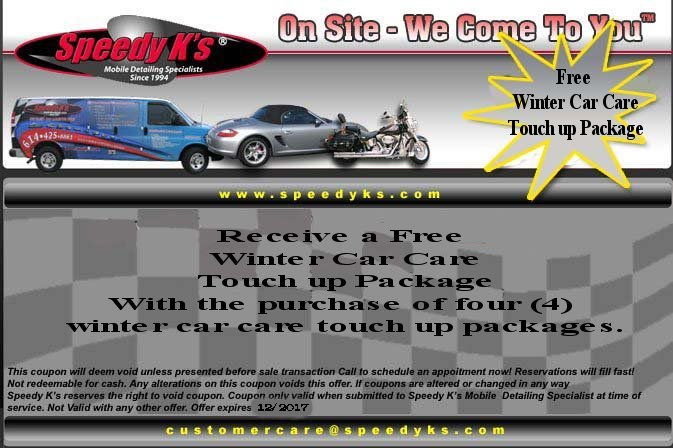 Free Touch Up/Winter Car Care Package
