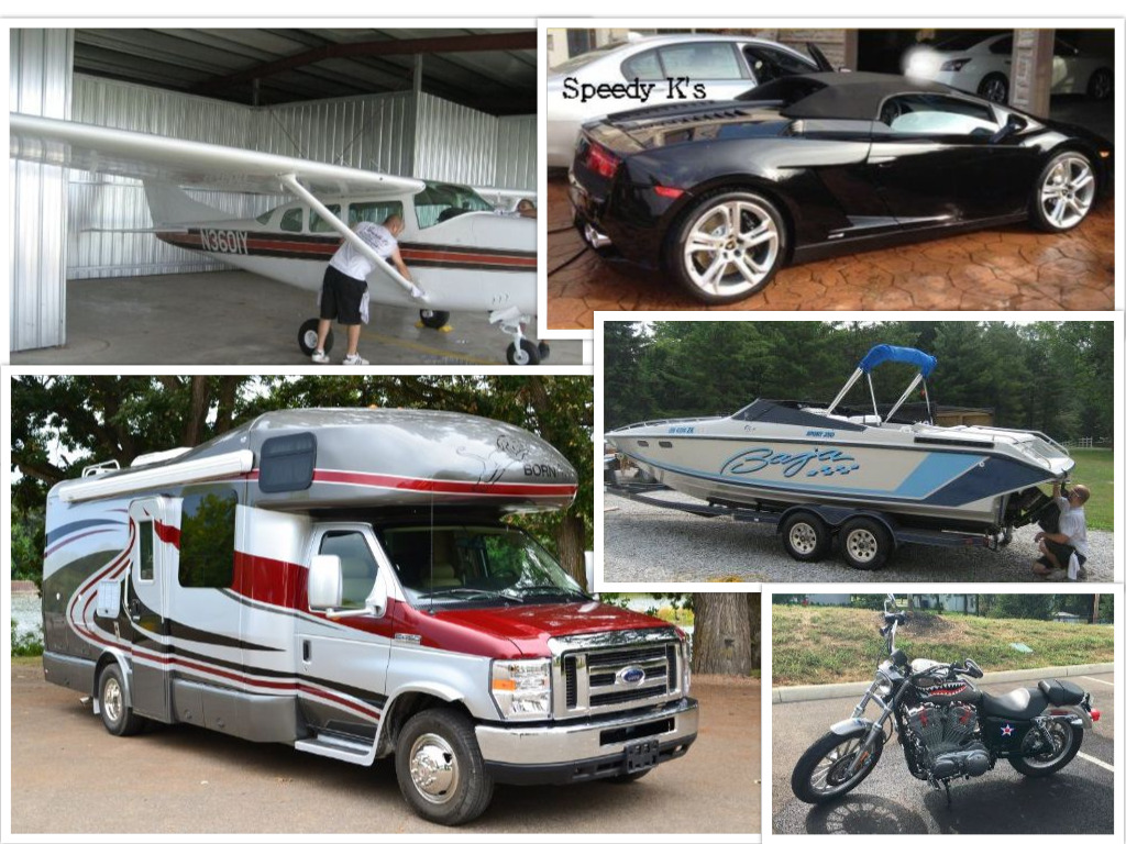 Start mobile detailing business for cars, RVs, boats and bikes
