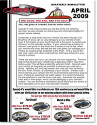 Preview of Spring 2009 Newsletter
