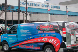 Shows & Events Images: Speedy K's Van at the Convention Center